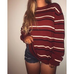 Sweaters - Red striped sweater